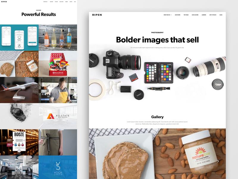 Ripen Website ecommerce design uxui web  design website ecommerce