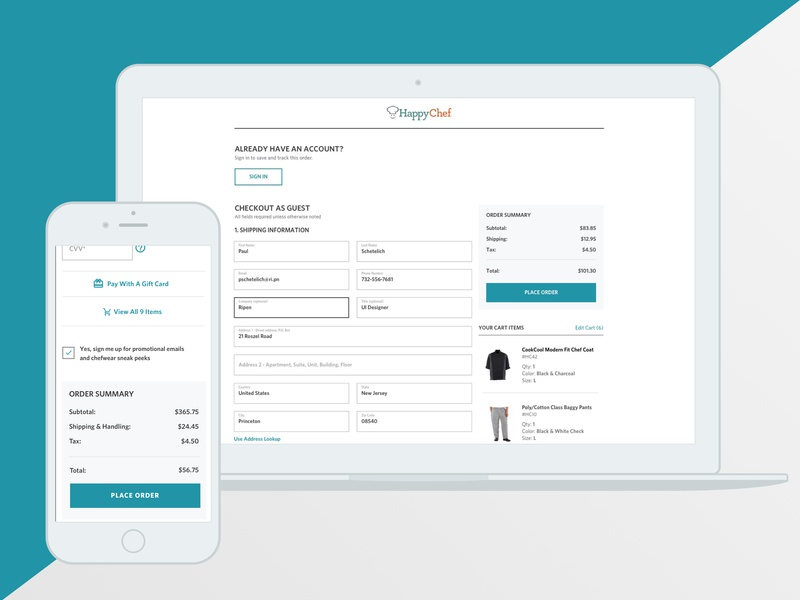 HC Checkout checkout process checkout page checkout uxui mobile first ecommerce design ecommerce