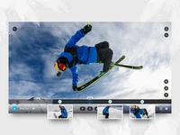 Desktop Player For Keyframing 360 Media desktop ui action sports video editing gopro max gopro max gopro user experience user interface ui design ux design keyframing desktop player desktop app 360 photo 360 video