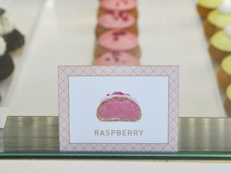 Choux Flavor Labels brand photography cream puff dessert pastry food choux