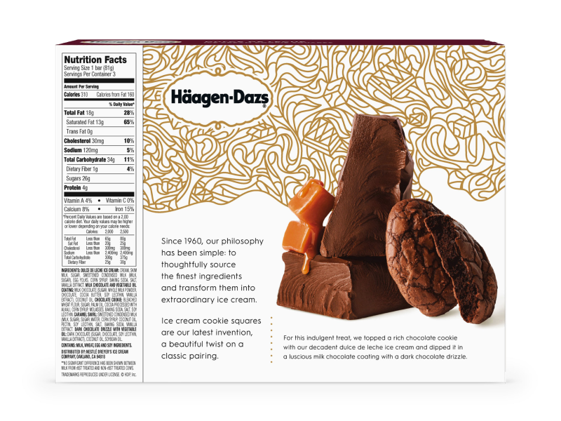 Häagen-Dazs Packaging food packaging food and drink food graphic design brand design brand consumer goods chocolate cookie new product package design packaging art direction ice cream icecream dessert
