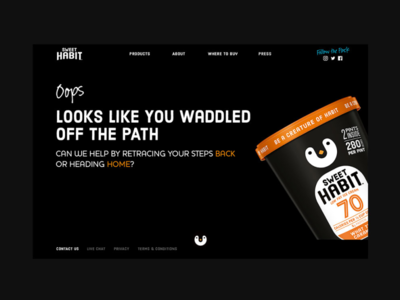 Sweet Habit Website - Error Page
