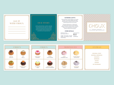 Choux Bakery Accordion Fold Menu