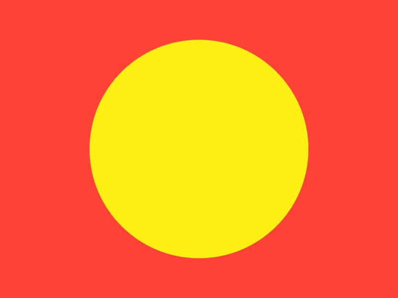 Haze #10 yellow series red layout haze grid eight design collection circle 8pt