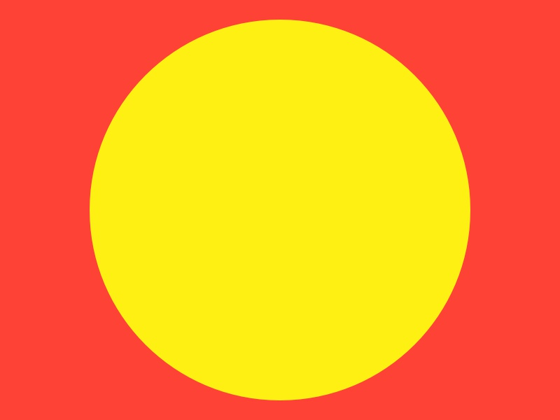 Haze #12 yellow series red layout haze grid eight design collection circle 8pt