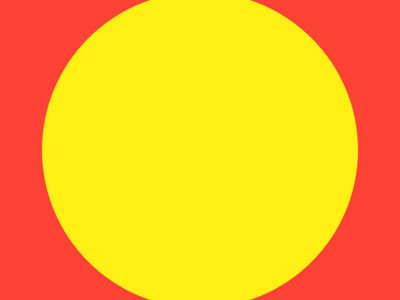 Haze #14 yellow series red layout haze grid eight design collection circle 8pt