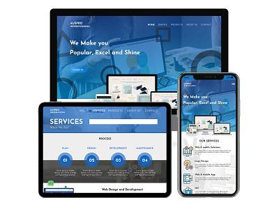 AsproWeb Mockup typography branding ux ui graphic design crazee adil website concept responsive webdesign website