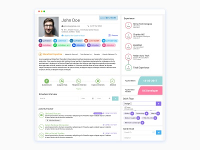 Job Applicant View Page illustration crazeeadil mohamed adil typography mohamedadil ux design uidesign graphic design crazee adil