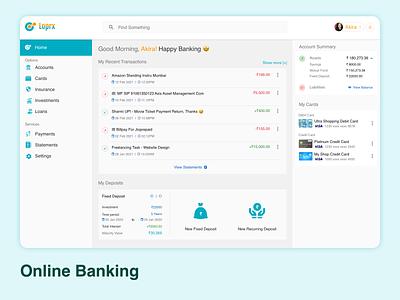 Banking app Landing Page UI Design Concept web app bank app web uidesign logo mohamedadil ux ui mohamed adil graphic design crazee adil
