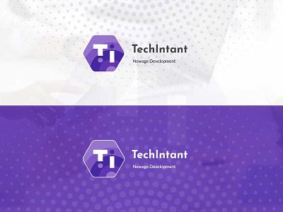 TechIntent Logo crazeeadil branding app illustration mohamedadil ux design graphic design mohamed adil crazee adil