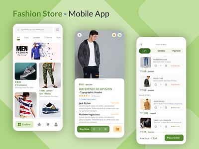 Fashion Store Mobile App fashion store app fashion store fashionstore mobile screen mobile app app design mobileapp graphic design design ux uidesign mohamed adil crazee adil
