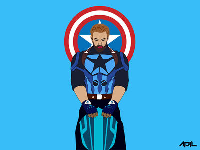 Captain America Infinity War captainamerica avengers pen paper sketch illustrate illustrations illustrator artpop artgallery arts