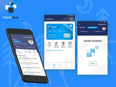 Bank Ui Cobalt Showcase app typography ux ui illustration mohamedadil graphic design mohamed adil crazee adil banking app mobile app adobexd xd uidesign