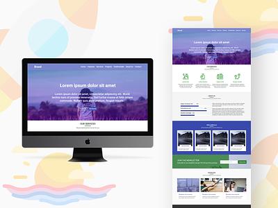 Ocova Landing Page UI Design typography webpage design landing page design landing page ux uidesign ui design graphic design mohamed adil crazee adil