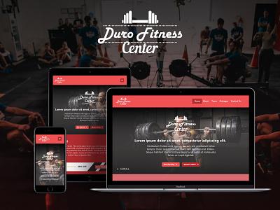 Duro fitness Center - Website Design Concept website durofitnesscenter fitness app webdesign ux design uidesign ui graphic design mohamed adil crazee adil