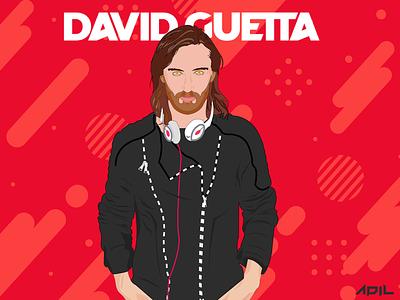 David Guetta saymyname beberexha david guetta icon drawing dj party flyer vector mohamed adil illustration graphic design crazee adil