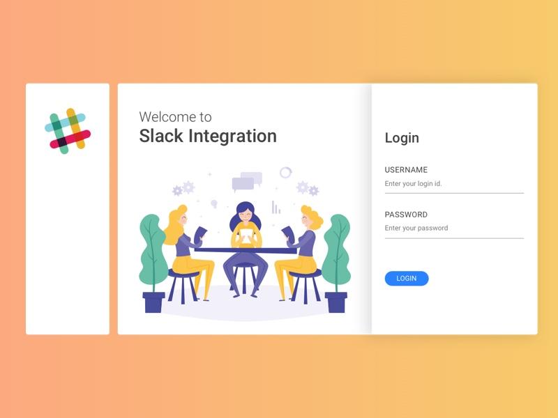 Slack Integration Login by Ronak Mokashi on Dribbble