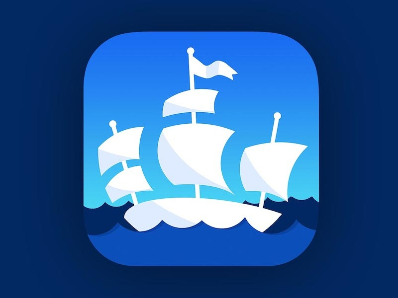 Pirate Ship icon ios 7