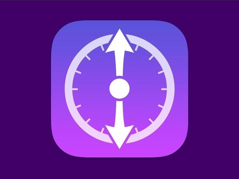 Hands iOS Icon Design purple glyph ios 7 icon app icon timer