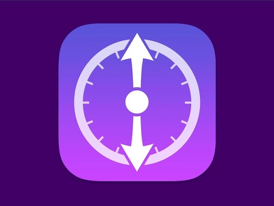 Hands iOS Icon Design purple glyph ios 7 icon app icon timer