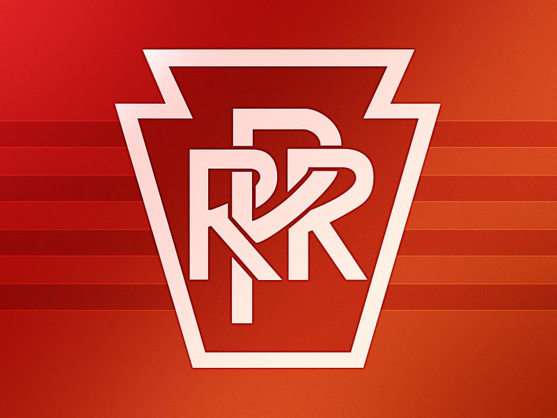 Pennsylvania Railroad Logo logo tracing railroad typography vector