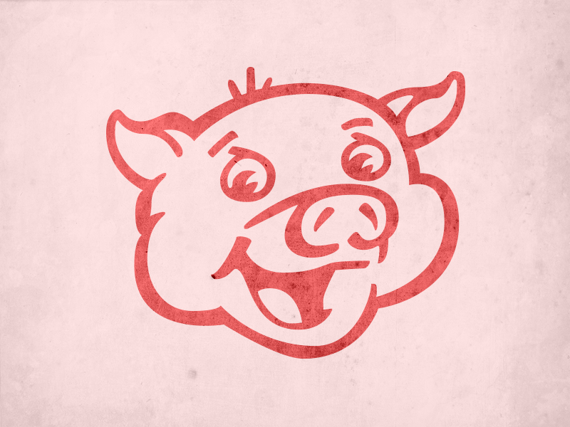 "Satriale's Pork Store Pig - ""The Sopranos"" the sopranos vector tv illustration illustrator vintage"