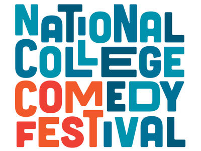 National College Comedy Festival decorative type stacked type logotype festival logo logo comedy