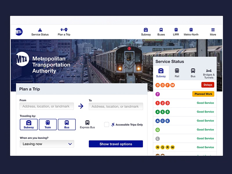 MTA Website Redesign user experience writing website redesign case study transportation