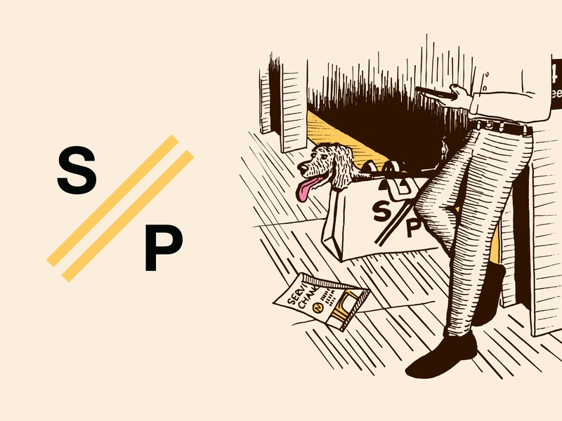 Newsletter logo & tote bag illustration