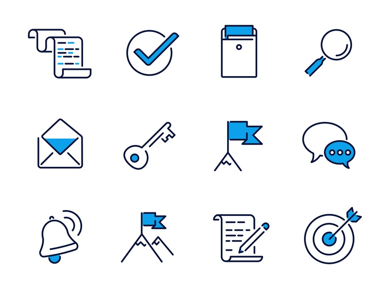 Job-search icons icon set illustration vector icon design
