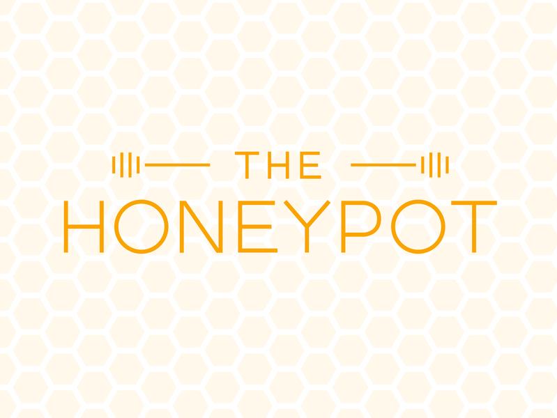 The Honeypot minimal custom type typography type branding logo design