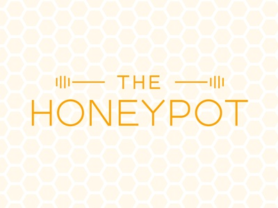 The Honeypot minimal custom type typography type branding logo design