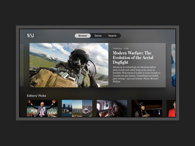 Wall Street Journal for Apple TV case study redesign apple tv
