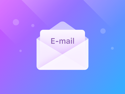 E-mail transparent blue e-mail clean flat ui