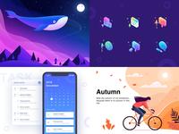 2018 interface clean illustration ui