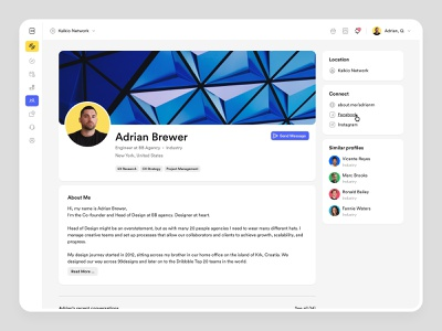 Nexudus – Directory dashboard logic projects designer widgets saas products saas balkan brothers visual design profile page directory page desktop co-working app white label product white label uxdesign ui design productdesign