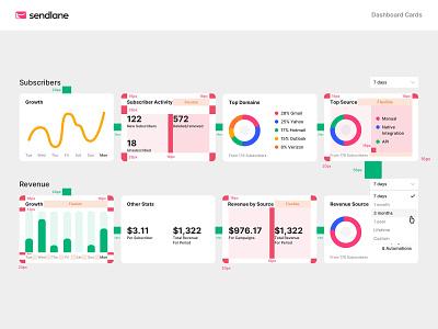 Sendlane Product – Spacing System system clean design visual design design system balkan brothers marketing platform spacing system product design