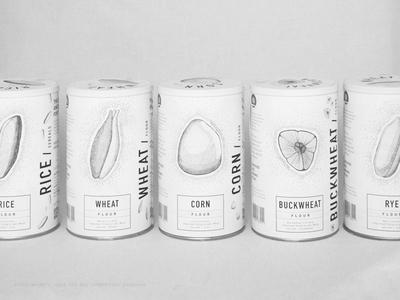 Cereals & Flour. Jar package.