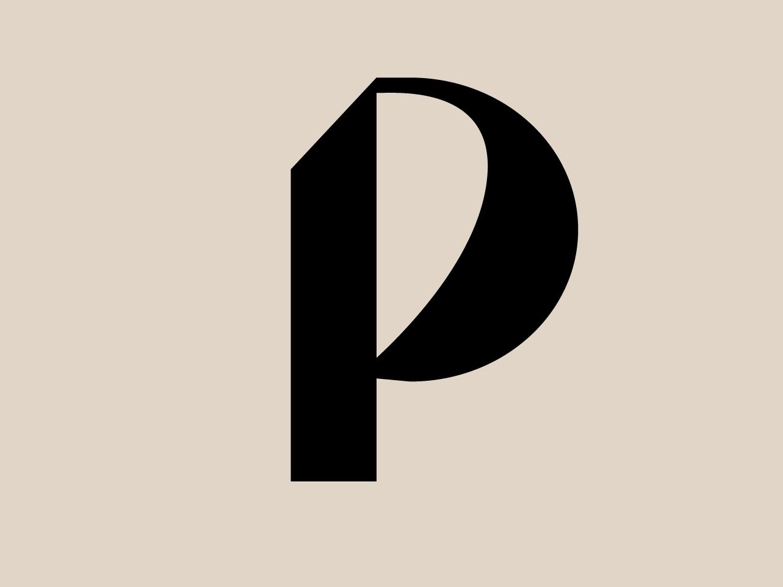 P typogaphy modern font minimalism font calligraphy p vector 36 days of type
