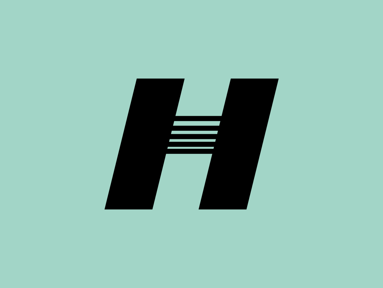 H typeface slanted vector font typography 36 days of type