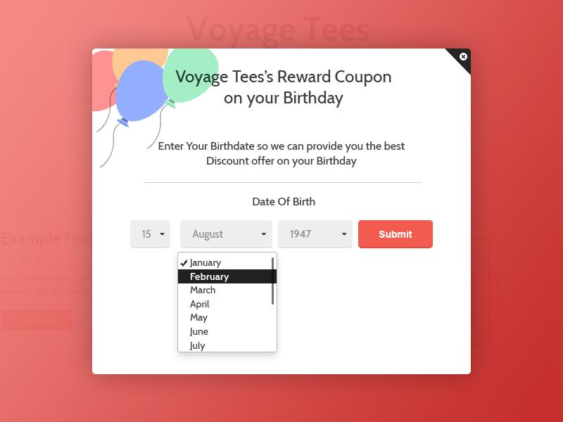 Birthday Reminder App UI For Shopify ECommerce Platform