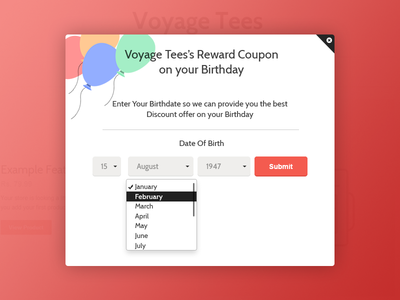 Free Birthday Reminder App ~ Birthday reminder app ui for shopify ecommerce platform by varun