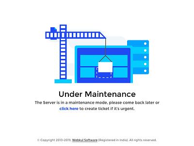 Maintenance Page support uvdesk ticket error server webkul construction illustration ux ui maintenance