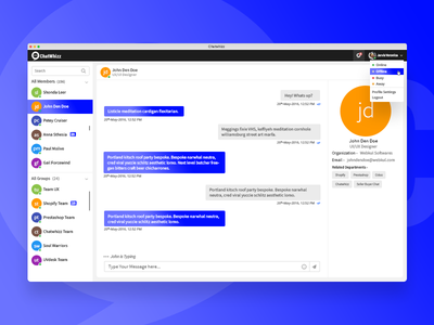 Chatwhizz - Chat System for Client & Consultant 💬 webkul chat box chat bubble chat bot system consultant client ux ui app chatting chat