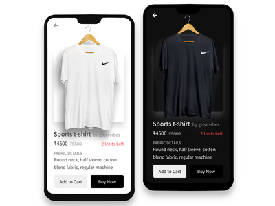 eCommerce Marketplace Product Page Design webkul cart ios app mobile marketplace tshirt product product page ui ecommerce
