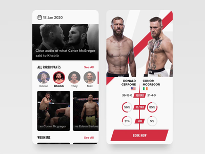 Cowboy vs Conor 🤠 🦍 cowboy conor mcgregor conor mma webkul design icon ux app ui fighter fight concept design concept ufc