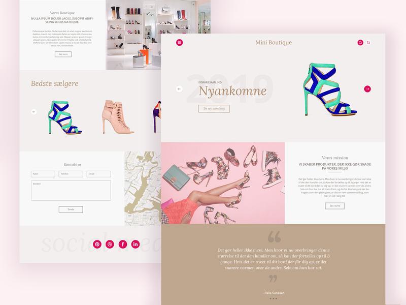 Boutique design website web branding typogaphy ui