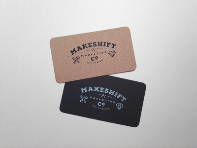 Business Cards branding makeshift marketing logo typography stamp business card