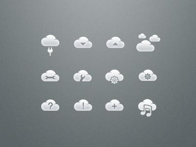 Cloud icon set preview