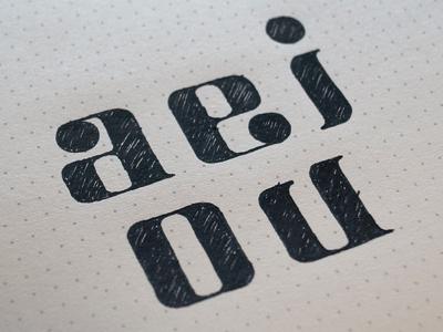aeiou font sketch